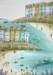 Burgloss Bay by Rebecca Lardner -  sized 20x28 inches. Available from Whitewall Galleries